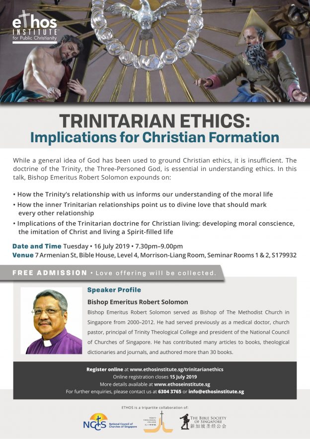 ETHOS Lecture 2019: Trinitarian Ethics: Implications for Christian